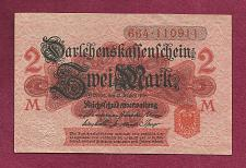 Buy GERMANY 2 MARK 1914 BANKNOTE 664-110911 - Red Seal, Darlehnskassenschein