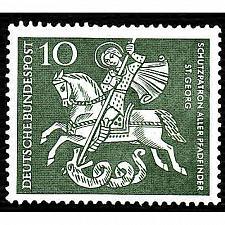 Buy German Hinged Scott #823 Catalog Value $.25
