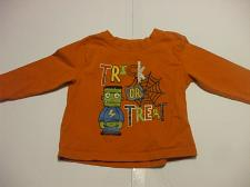 Buy George Orange Halloween Long Sleeve Shirt toddlers 2T 100% Cotton