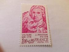 Buy France Famous Voltaire/Rousseau writers mnh 1978