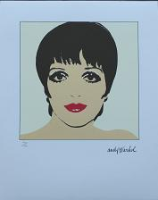 Buy Andy Warhol authenticated lithograph Liza Minnelli yellow