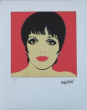 Buy Andy Warhol authenticated lithograph Liza Minnelli red