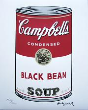 Buy Andy Warhol Campbell's Soup Black Bean signed numbered print