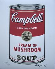 Buy Andy Warhol Campbell's Soup Cream of Mushroom signed numbered print