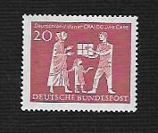 Buy German Hinged Scott #855 Catalog Value $.25