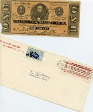 Buy - Civil War- 1864 Confederate One Dollar (Faulty)