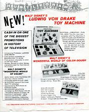 Buy - Disney- Very Scarce Von Drake Toy Machine Flyer