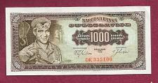Buy YUGOSLAVIA 1000 DINARA 1963 Banknote DK 335100 UNCirculated - Steel Worker