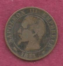 Buy FRANCE 5 Centimes 1855 - French Empire ! A Historic 150+ Year Old Coin!!