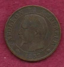 Buy FRANCE 5 Centimes 1857 - French Empire ! A Historic 150+ Year Old Coin!!