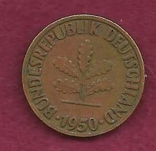 Buy Germany - West Germany - Bundesrepublik - German 10 Pfennig1950 F Coin!