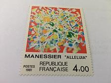 Buy France Art Painting Alléluia d'Alfred Manessier 1981 mnh