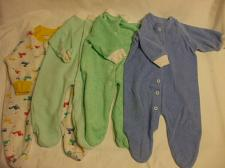 Buy Lot 4 Baby Rompers 0-3 Months Cotton Blend Slumber tot Long Sleeves Covered Toes