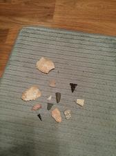 "Buy Arrowheads - 6 & 2 Or 3 Scrapers & Over 150 Rocks - ""Guaranteed Authentic"""