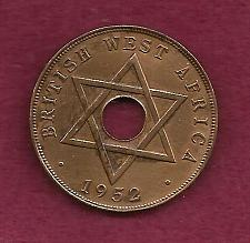 Buy BRITISH WEST AFRICA 1 Penny 1952 COIN - King George V - Bronze