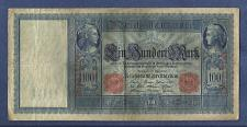 Buy GERMANY 100 Mark 1910 Banknote B1677309 Wilhelm Watermark-Mercury/Ceree/Germania