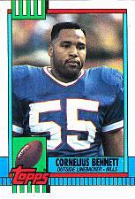 Buy Cornelius Bennett #208 - Bills 1990 Topps Football Trading Card