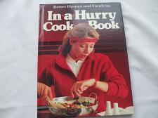 Buy In-a-Hurry Cookbook HARDCOVER Better Homes and Gardens
