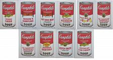 Buy Andy Warhol Campbell's Soup complete set 10 lithographs authenticated limited edition