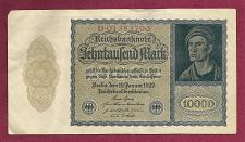 Buy GERMANY 10,000 MarK 1922 VAMPIRE NOTE D01383700 - A Historic & truly Unique Note !
