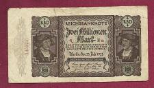 Buy GERMANY 2 Millionen Mark 1923 Banknote 145571 - Weimar INFLATION REICHSBANKNOTE