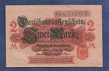 Buy GERMANY 2 MARK 1914 BANKNOTE 664-110913 - Red Seal, Darlehnskassenschein