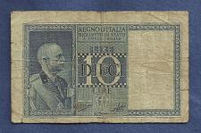 Buy ITALY 10 Lire 1939 Banknote No 912602 P-25 BIGLIETTO DI STATO -Historic WWII Currency