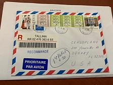 Buy Estonia envelope with stamps 2004