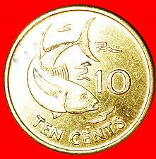 Buy + GREAT BRITAIN: SEYCHELLES · 10 CENTS 1997PM FISH MINT LUSTER!