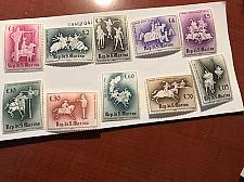 Buy San Marino Medieval tournaments mnh 1963 stamps #abc