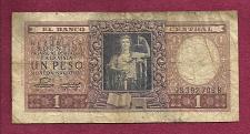 Buy Argentina 1 (Un) Peso 1947 Banknote 98392709B - Justice Sword & Scale p260 Banknote