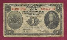 Buy NETHERLANDS INDIES 1 Gulden 1943 Banknote AB494716A – P111 Scarce Note WWII Currenc
