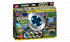 Buy DISK LIGHTS 4 PC SET LED SOLAR INGROUND LIGHTS.....COLORED LIGHTS