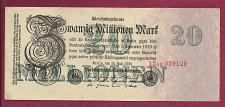 Buy GERMANY 20 Millionen Mark 1923 Banknote 029129 -P-97 WEIMAR INFLATION REICHSBANKNOTE