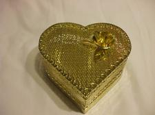 Buy Delicate Carved Metal Golden Heart Container
