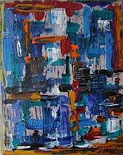 Buy J. M. Iantis Contemporary Art Original Acrylic Painting Abstract Modern Palette Knife