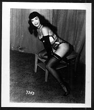 Buy BETTY PAGE SEXY SEXY POSE VINTAGE IRVING KLAW 4X5 #7343