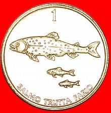 Buy + FISH: SLOVENIA ★ 1 TOLAR 1998 MINT LUSTER! LOW START ★ NO RESERVE!