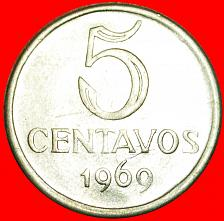 Buy + EFFIGY: BRAZIL ★ 5 CENTAVOS 1969! LOW START★NO RESERVE!
