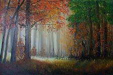 Buy Autumn Glade Original Oil Painting Landscape Fall Forest Trees Palette Knife Fine Art