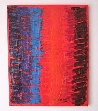 Buy J. M. Iantis Abstract Original Acrylic Painting Contemporary Impasto Textured Modern