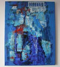 Buy J.M. Iantis Blue Landscape Original Abstract Painting Symbolism Contemporary Impasto