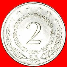 Buy + LARGE TYPE (1971-1981): YUGOSLAVIA ★ 2 DINAR 1972 MINT LUSTER! LOW START