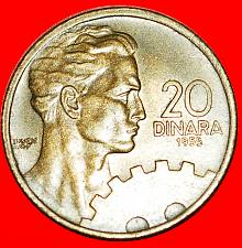 Buy + YEAR =TYPE: YUGOSLAVIA ★ 20 DINAR 1955! LOW START ★ NO RESERVE!