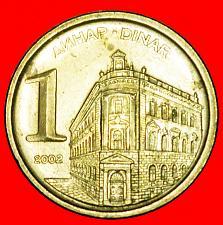 Buy + LAST TYPE (2000-2002): YUGOSLAVIA★ 1 DINAR 2002★LOW START ★ NO RESERVE!