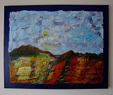 Buy J. M. Iantis Autumn Landscape Original Acrylic Painting Modern Abstract Textured Art