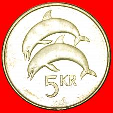 Buy + GREAT BRITAIN DOLPHINS (1996-2008): ICELAND ★ 5 CROWNS 2005 MINT LUSTER★LOW STA