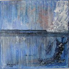 Buy J.M. Iantis Abstract Modern Original Acrylic Painting Blue Contemporary Art Sailing