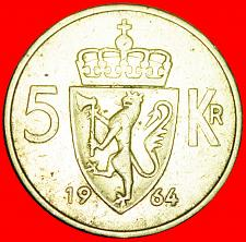 Buy + LION (1963-1973): NORWAY ★ 5 CROWNS 1964! LOW START ★ NO RESERVE!