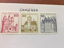 Buy Berlin Castle strip 50+30+10 bottom imperf. mnh 1977